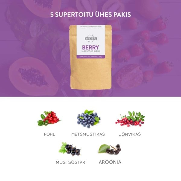 Boost Yourself Berry supertoidusegu smuutidele