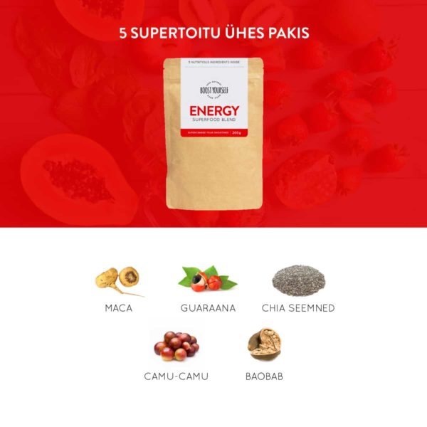 Boost Yourself Energy supertoidusegu smuutidele