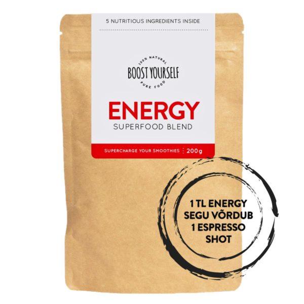 Energy supertoidusegu smuutidele Boost Yourself tervislik toit otse loodusest
