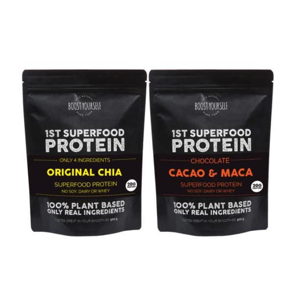 Boost Yourself original chia ja cacao maca proteiinisegud