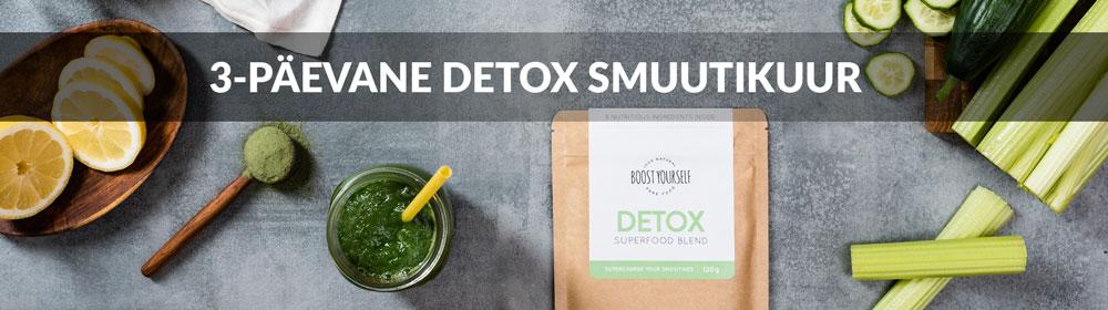 Detox puhastuskuur roheliste tervislike smuutidega