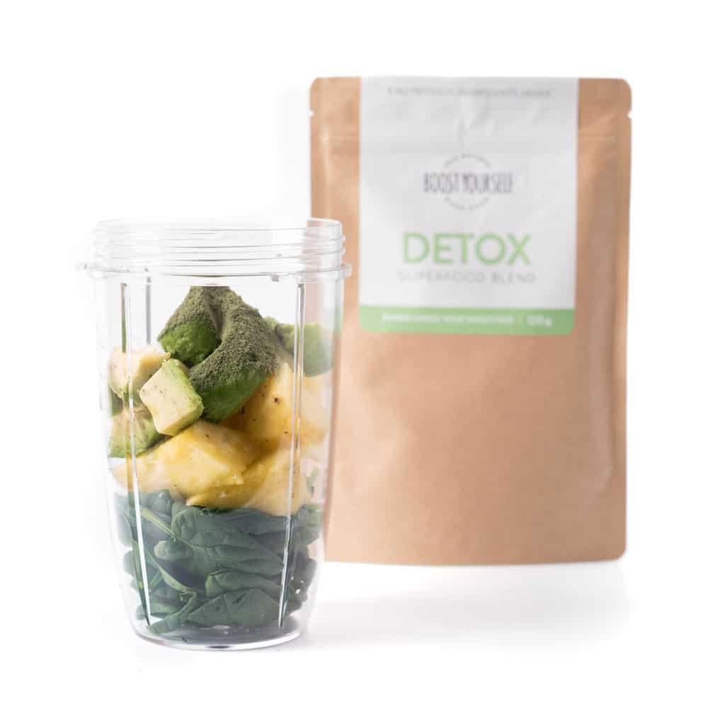 Rohelise smuuti koostisosad ja detox supertoidusegu
