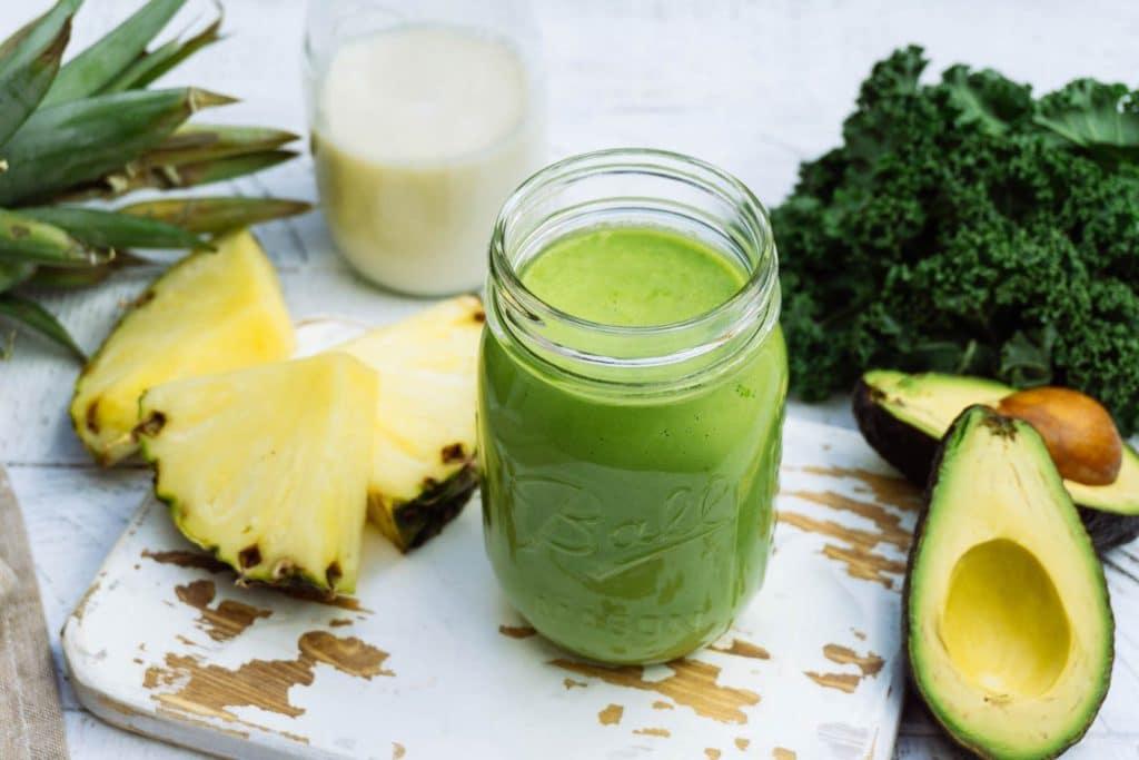 Lehtkapsa ananassi proteiini smuuti