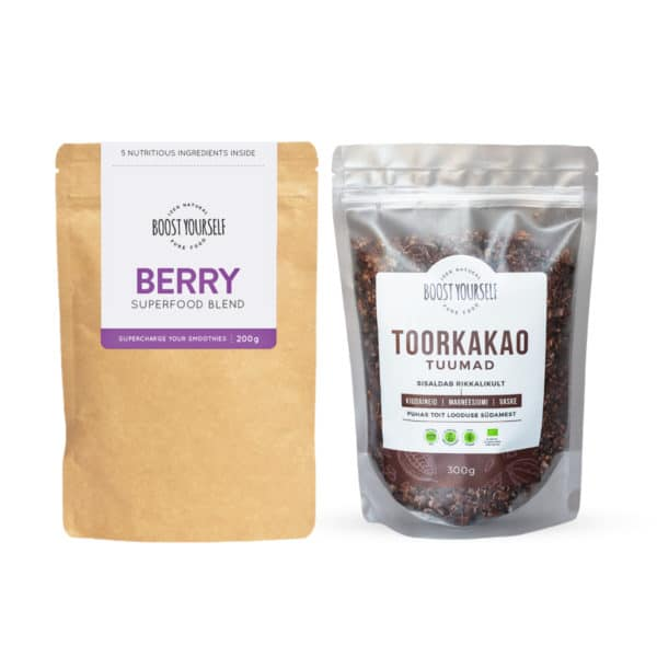 Boost Yourself Berry supertoidusegu ja kakaotuumad