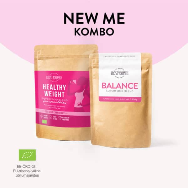Boost Yourself New me combo balance healthy weight supertoidusegud ilu saledus tervis