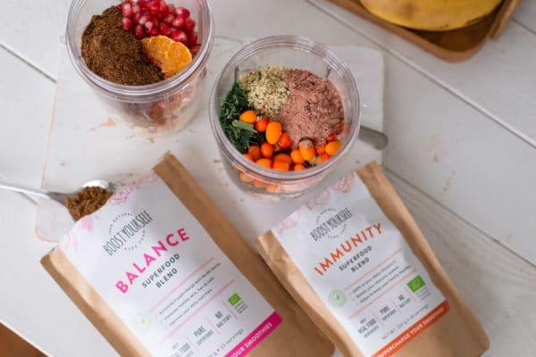 Boost Yourseld vitamiinikombo Immunity supertoidusegu ja Balance supertoidusegu