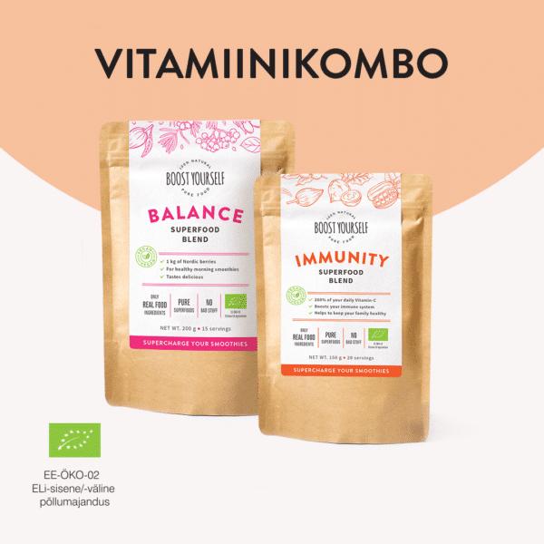 Boost Yourself vitamiinikombo Blaance Immunity supertoidusegu