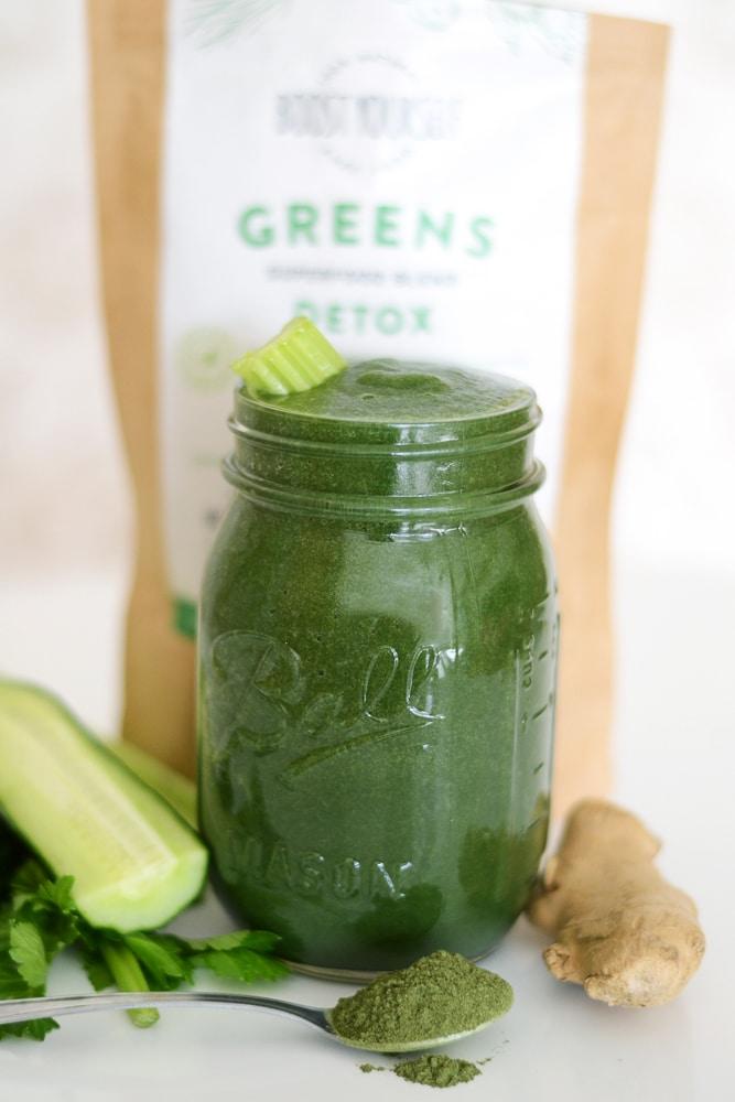 Boost Yourself kevadine kaalulangetaja ja puhastus sinu kehale Detox Greens supertoiduseguga