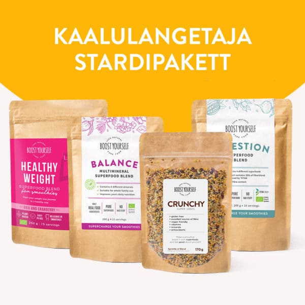 Boost Yourself kaalulangetaja stardipakett