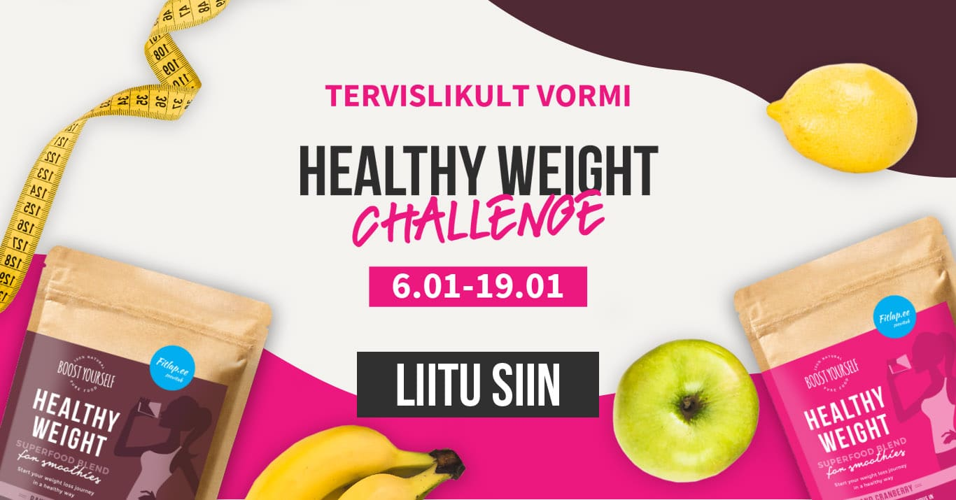 Boost Yourself Healthy Weight Challenge 2020 jaanuar