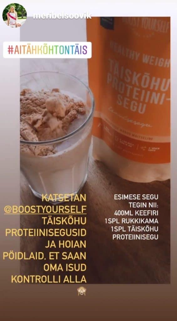 Taimne proteiinisegu Boost Yourself smuutiretseptid