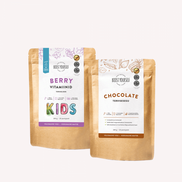 Boost Yourself chocolate berry vitamiinid kids eripakkumine