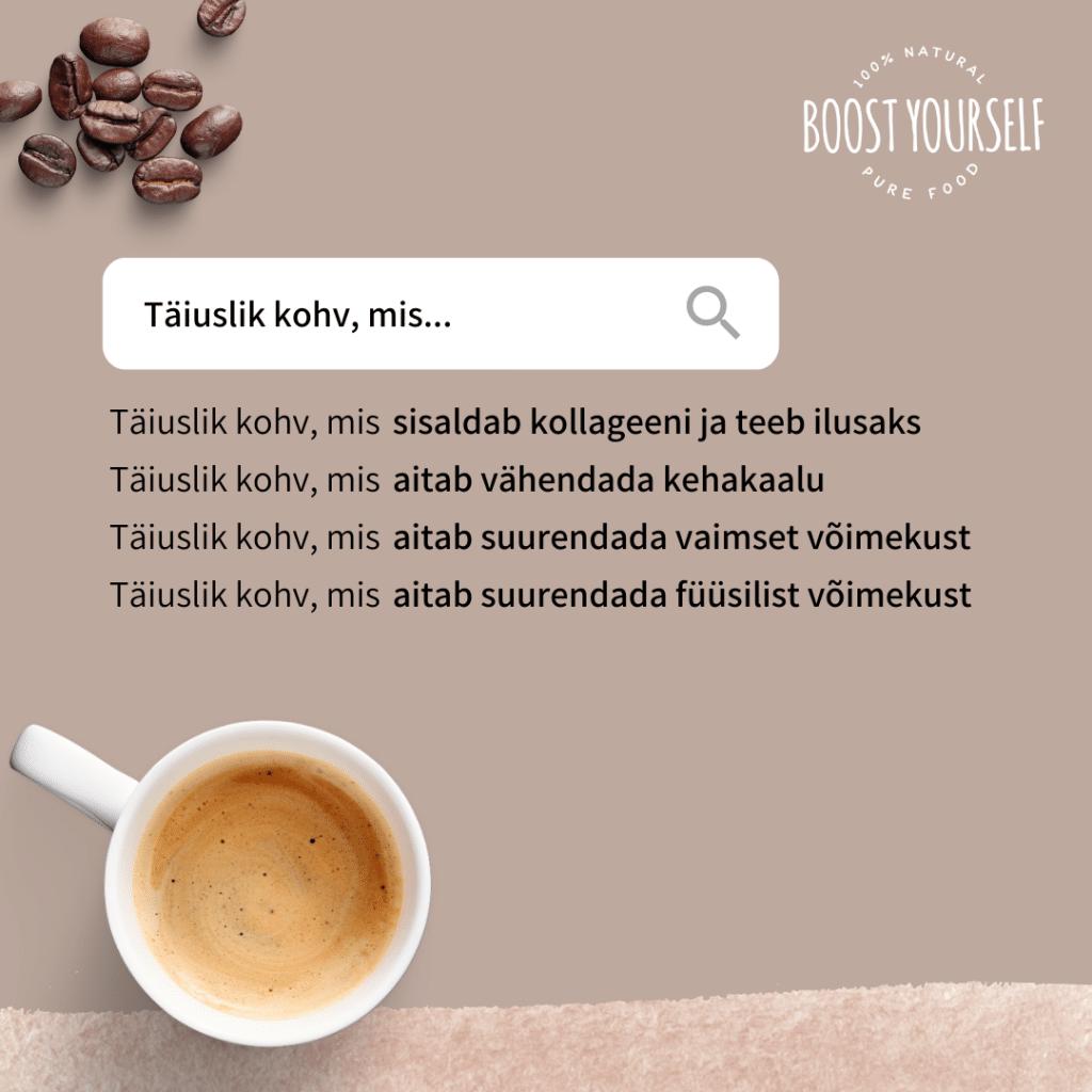 Boost Yourself Täiuslik kohv