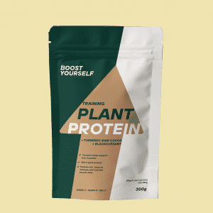 Boost Yourself training plant protein tumeric raw cocoa blackcurrant 300g